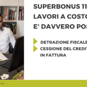 superbonus 110% lavori a costo zero
